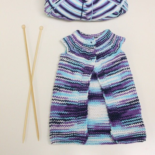 Student project! Just had to share this knitting project from one of our beginner knitting students. It is so sweet. A job well done. :-) @craftedspaces #knitting #beginnerknitting