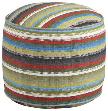 Cayden Pouf - eclectic - ottomans and cubes - Crate&Barrel