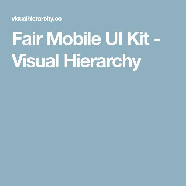 Fair Mobile UI Kit - Visual Hierarchy