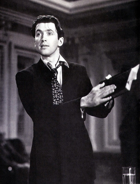 """Jimmy Stewart as Jefferson Smith in """"Mr. Smith Goes to Washington"""" (1939), one of the best actors and scenes of all time."""