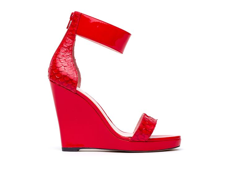 Red hot. 60s inspired wedge from the Janie Bryant collection.