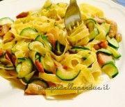 Tagliatelle con zucchine e porcini