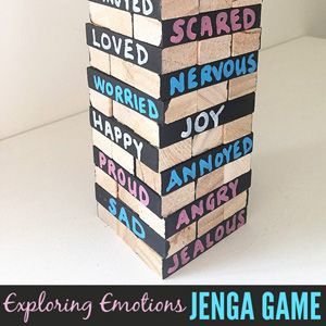 Big Emotions Jenga Game