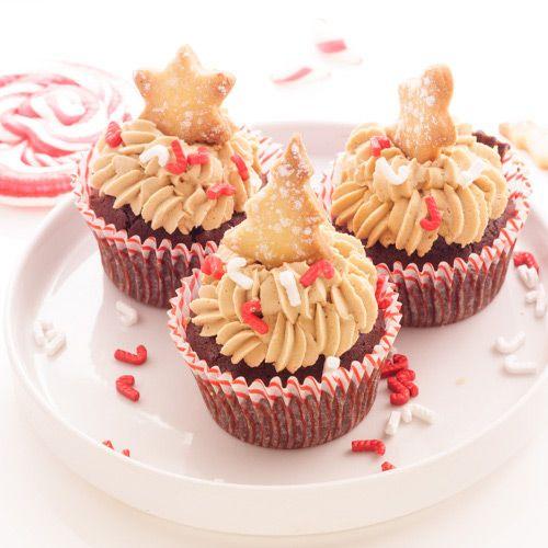 Cupcake de Noël au chocolat et spéculoos - Chocolat & Caetera