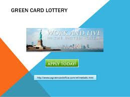 USA Green Card US Green Card Office provide you the Official US Green Card Lottery, so you can live, work or study in USA. Enter the official DV-2019 Green Card Lottery Today. http://www.usgreencardoffice.com