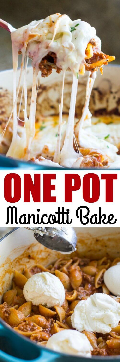 This easy Manicotti Pasta Bake comes together in just one pot! It's perfect for busy weeknights or any time you want a truly delicious, comforting meal at home.