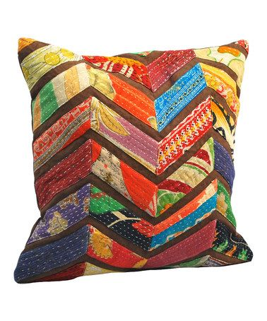 Take a look at this Vintage Chevron Square Pillow by Modelli Creations on #zulily today!