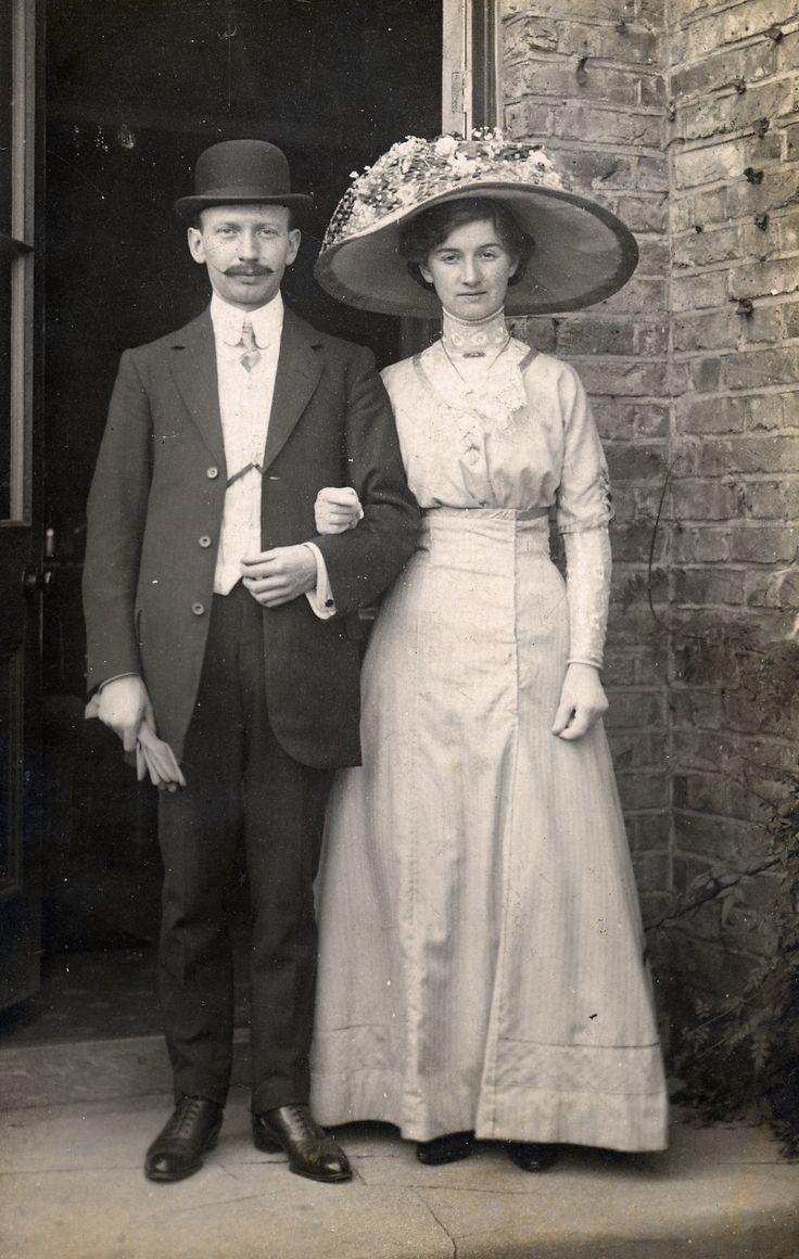 Photographed in 1915 by W Webb. Edwardian wedding