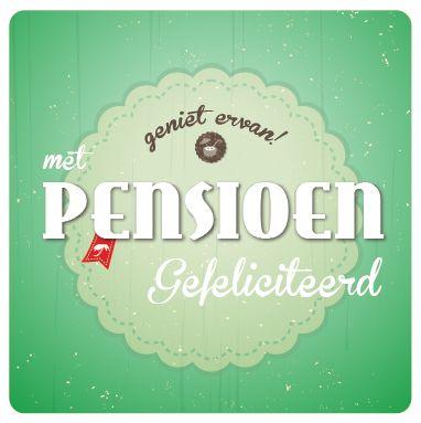 Pensioen kaart uit de wenskaartendoos van Miss Olive. Zie http://www.missolive.nl/category/wenskaartendoos