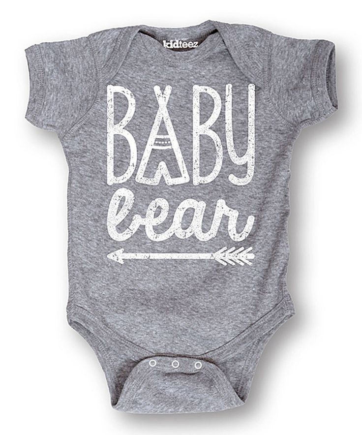 Look at this Athletic Heather 'Baby Bear' Bodysuit - Infant on #zulily today!