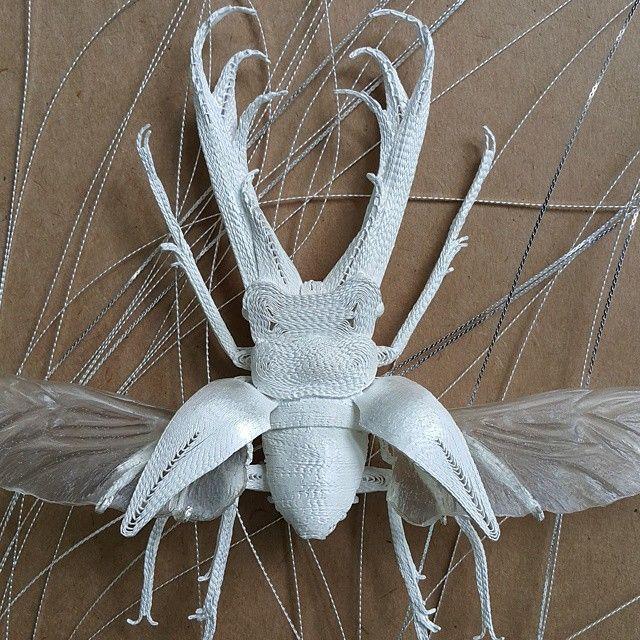 #filigree #silver #beetle #brooch #atrt #jewellery - kafka8