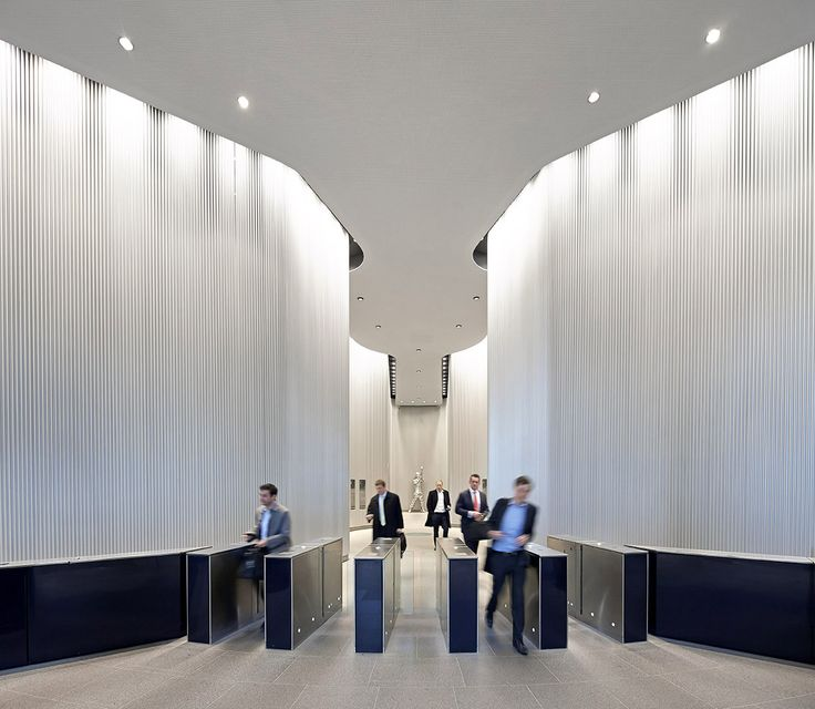 Hufton + Crow | Projects | The Gherkin | Lobby interior ...