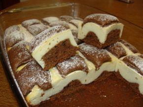 INGREDIENTE: Pentru aluatul de ciocolată: -250 g de făină; -100 ml de ulei rafinat; -100 ml de lapte; -3-4 ouă; -150 g de zahăr; -20 g de pudră de cacao; -5 g de praf de copt. Pentru aluatul din brânză: -350 g de brânză dulce de vaci; -30 g de amidon; -60 g de zahăr; -½ linguriță de zahăr vanilat; -un ou. MOD DE PREPARARE: 1.Pregătiți aluatul de ciocolată: cerneți făina împreună cu pudra de cacao și praful de copt. 2.Bateți ouăle (la temperatura camerei) și zahărul timp de 3-4 minute. 3.Fără…
