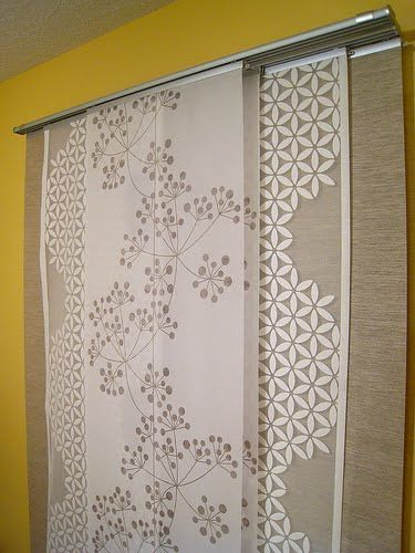 Layered panel curtains (IKEA)