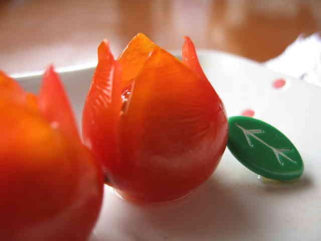 お弁当に❤チューリップのお花(・ω・)✿の画像