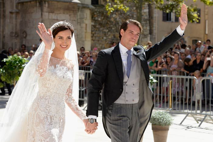 Prince Felix and Princess Claire of Luxembourg marry in religious wedding ceremony in Provence, France  21 Sept 2013