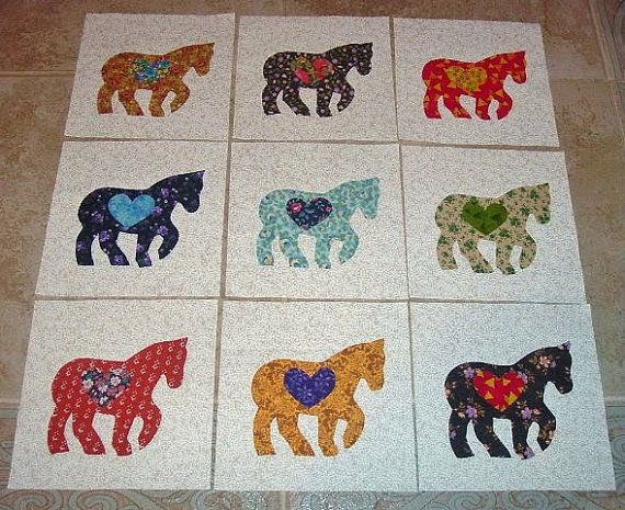 Set Of 12 Scrappy Pony Horse With Heart By