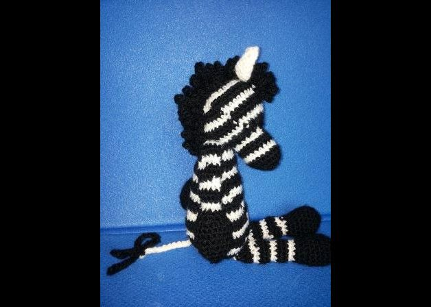 zebra all'uncinetto - amigurumi - crochet