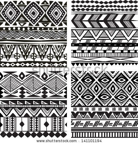 Seamless tribal texture - stock vector                                                                                                                                                                                 Mehr