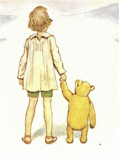 Contemplating Immortality ...  Christopher Robin and Pooh by petkenro, via Flickr