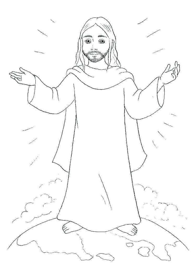 15 Printable Christmas Coloring Pages Jesus & Mary