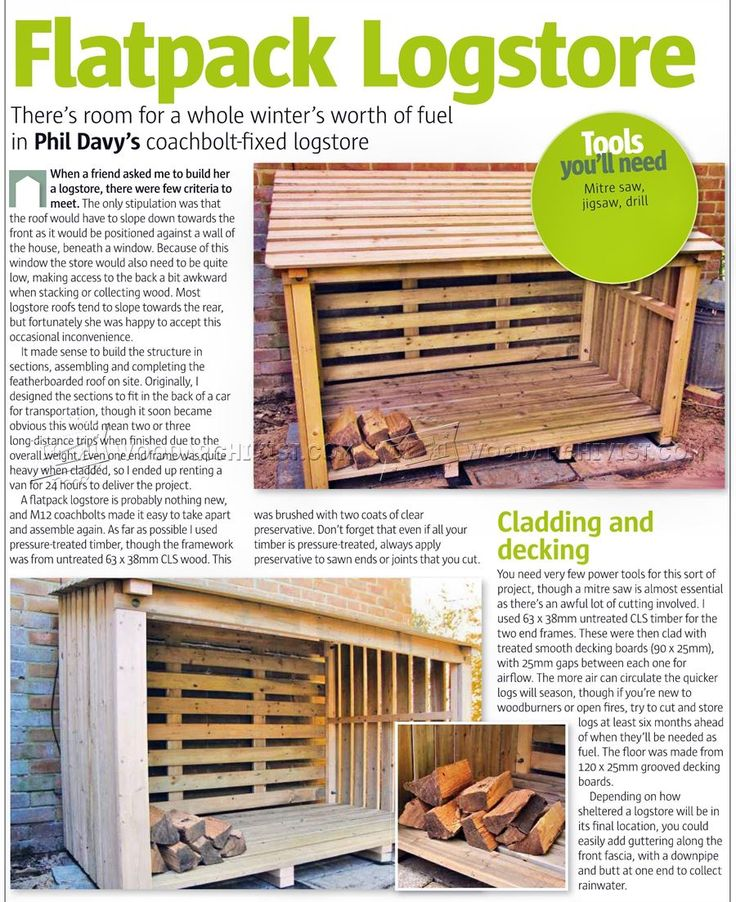 #3206 Log Store Plans - Outdoor Plans