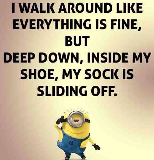 OMG that happened to me before, it was so uncomfortable. Yet, I tried to act like I was fine. Hahaha #humorous #minions