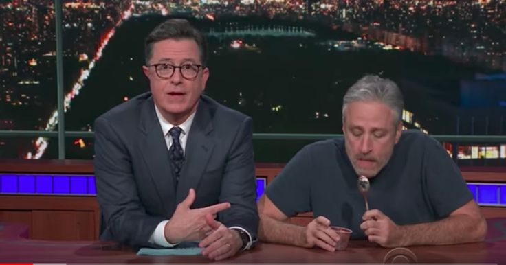 Watch Jon Stewart, Stephen Colbert Announce Prize for Autism Charity Event  ||  Jon Stewart previews Stephen Colbert's prize for HBO's live autism benefit, 'Night of Too Many Stars,' on 'The Late Show.' http://www.rollingstone.com/tv/news/jon-stewart-stephen-colbert-reveal-prize-for-autism-event-w511379?utm_campaign=crowdfire&utm_content=crowdfire&utm_medium=social&utm_source=pinterest