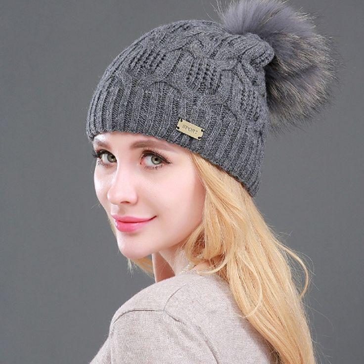 Gorro Feminino Raccoon Fur