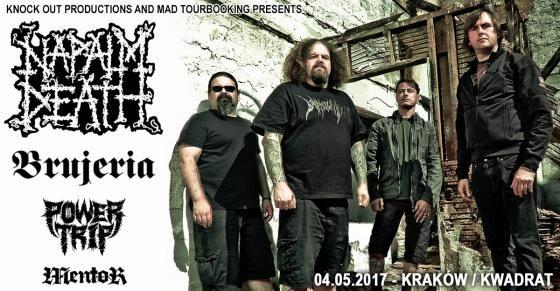 Galeria zdjęć z koncertów Napalm Death, Brujeria i Power Trip W Krakowie->>http://heavy-metal-music-and-more.blogspot.com/2017/05/napalm-death-brujeria-w-krakowie-galeria.html