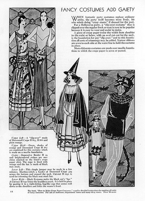 1931 Fancy Costumes Add Gaiety  Halloween Suggestions The New Bogie Book Dennison 1931