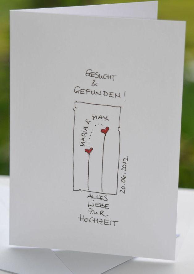 Hochzeitskarten - ganz persönliche Hochzeitskarte * KerstinCards - ein Designerstück von KerstinCards bei DaWanda (Fashion Diy Ideas)