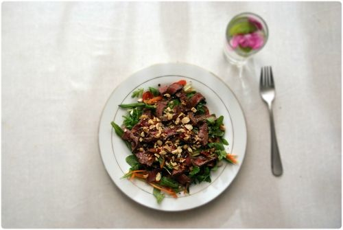 Thai beef salad.  Thai biff salat.