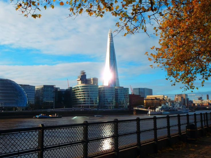Admiring the Shard in the sunshine photo by Fiona Knight #LONDONCALLING