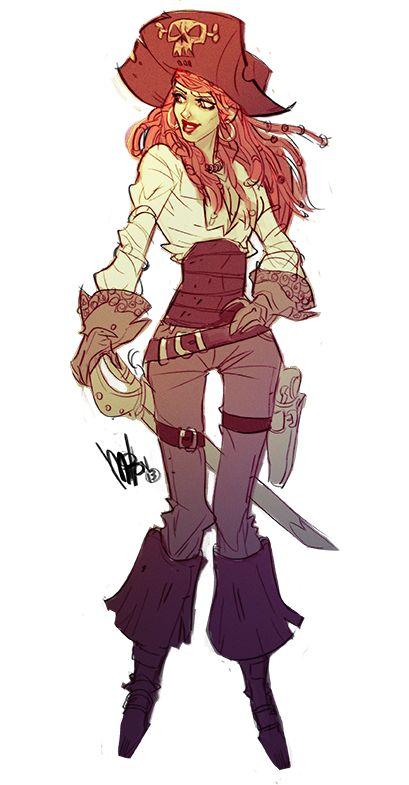 Female pirate drawing - photo#43