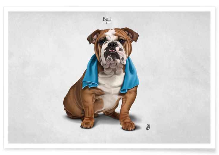 Bull (Titled) as Premium Poster by Rob Snow | Creative | JUNIQE  art | decor | wall art | inspiration | animal | home decor | ideas | gift