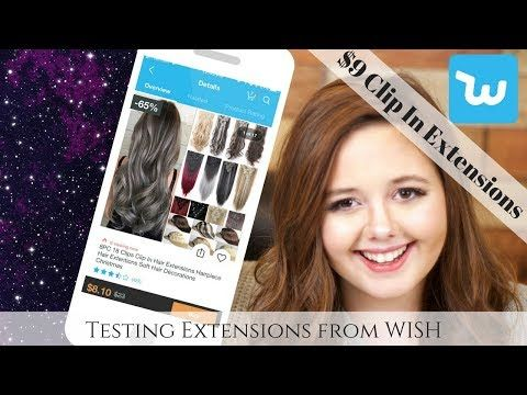 $9 Clip in Hair Extensions Review | I Bought Hair Extensions off Wish | Testing Cheap Extensions https://youtube.com/watch?v=5Oow_Jq0X4k
