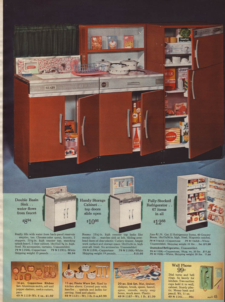 1964 sears wishbook little kitchen 60s 70s 80s pinterest for 60s kitchen set