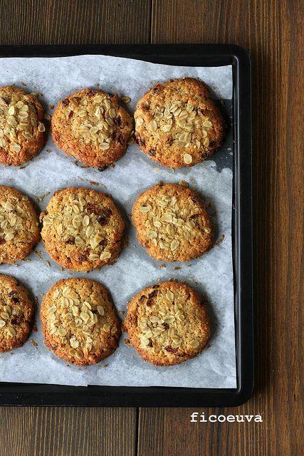 fico secco uva passa: Cookies all'avena e uvetta