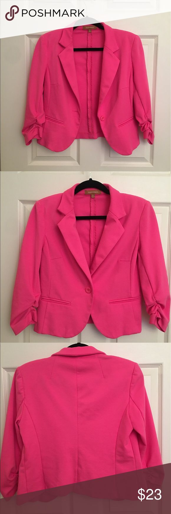 Hot pink blazer Hot pink Ellen Tracy blazer Ellen Tracy Jackets & Coats Blazers