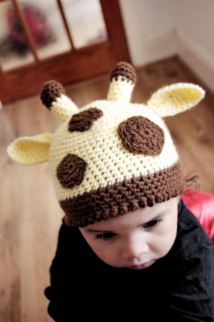 0 to 3m Newborn Giraffe Hat Jungle Safari Hat Newborn Baby Giraffe Beanie - Crochet Jungle Baby Hat Yellow, Brown Newborn Hat Jungle Animals. $25.20, via Etsy.