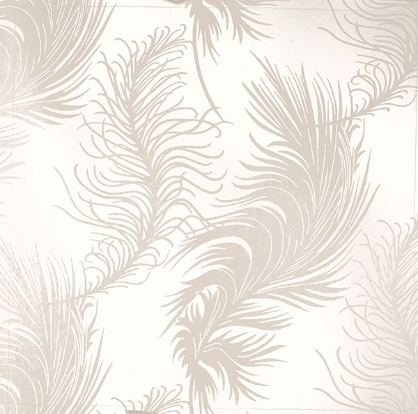 Plume White From The Laura Ashley Wallpaper Collection