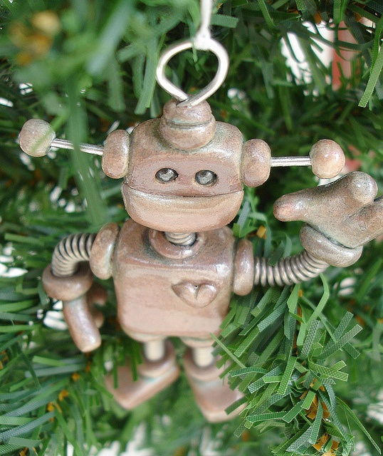 Cool. My robot Christmas ornament could use this lil feller to hang with.