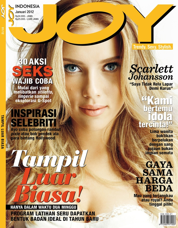 JOY Indonesia January 2012 issue.  #ScarletJohansson
