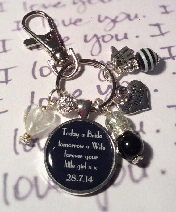 Personalised MOTHER of the BRIDE keepsake by Fizzbombkeyrings