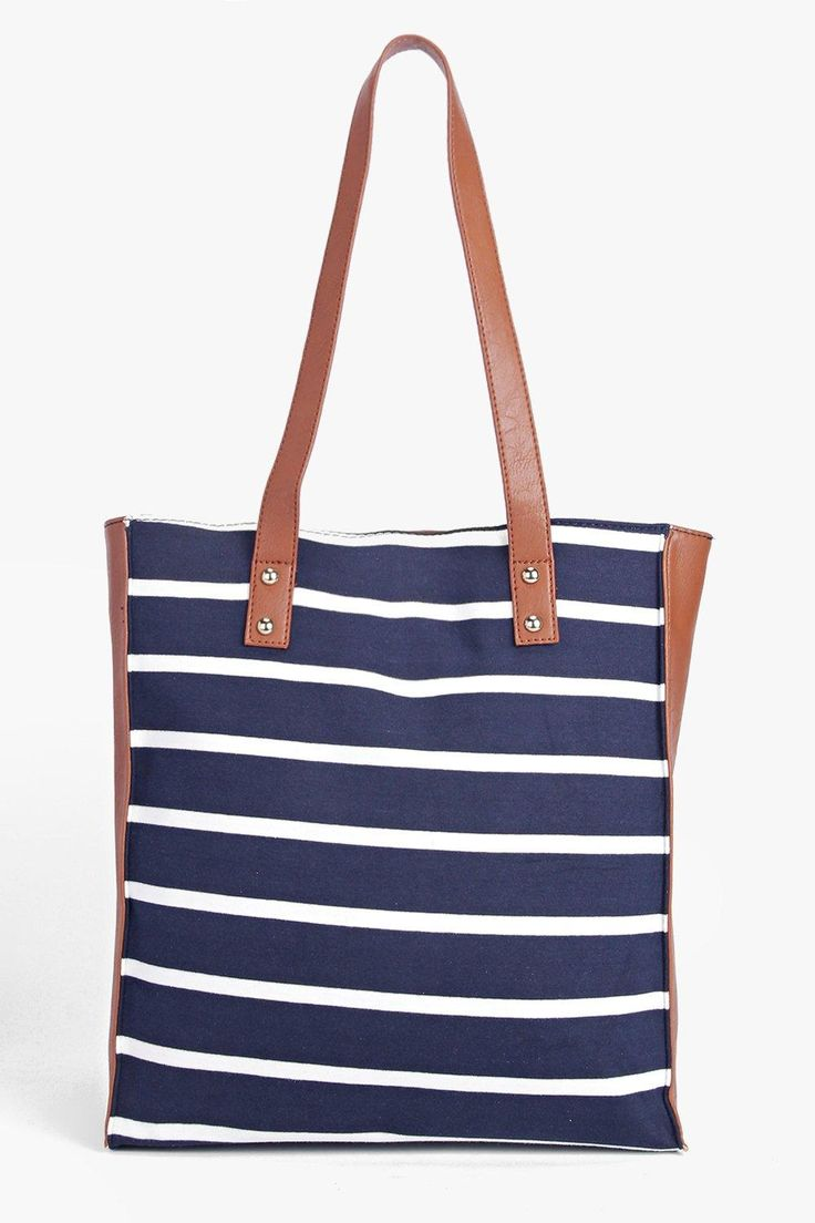 Lacey Stripe Nautical Shopper Bag