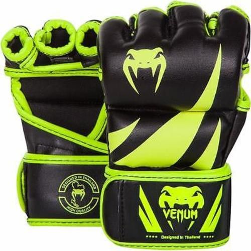 VENUM CHALLENGER 2.0 MMA GLOVES GRAPPLING BLACK / NEON GREEN