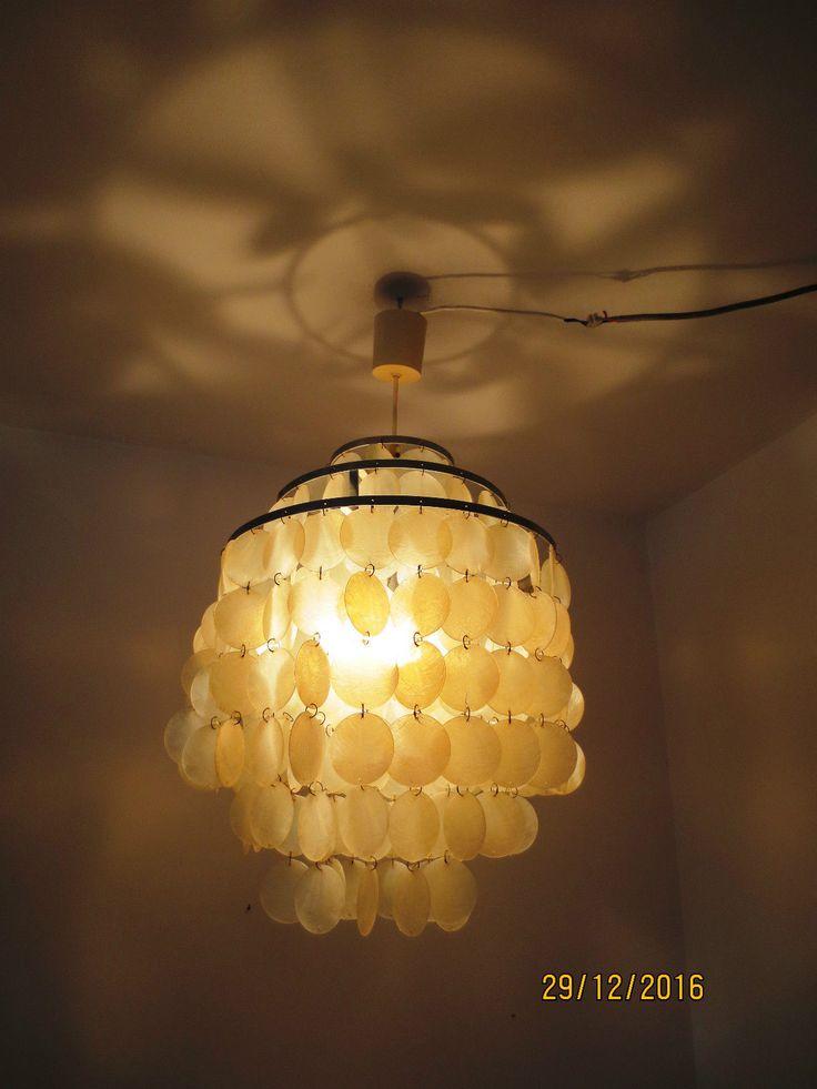 kultige Muschellampe, Plättchenlampe, 70er Jahre, Popart | eBay