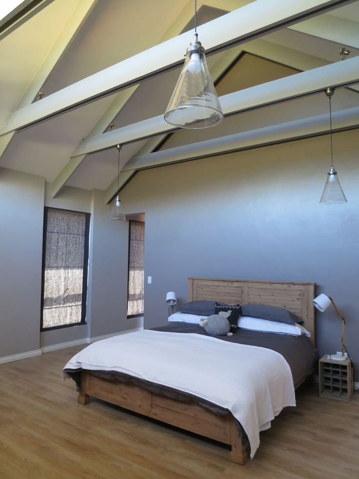 bedroom in barn style home