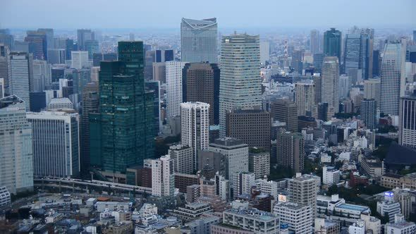 View Of Tokyo Skyline From Roppongi Hills Tower - Tokyo Japan 2 by mountairyfilms Tokyo Skyline.